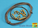 ABR16-030 Tow cables & track cable with brackets used on Tiger I, King Tiger & Panther