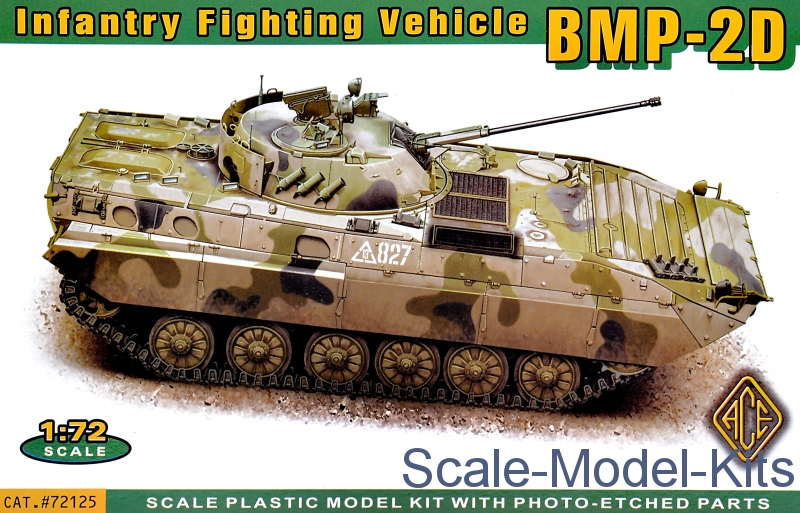 Bmp 2d Infantry Fighting Vehicle Ace Plastic Scale Model