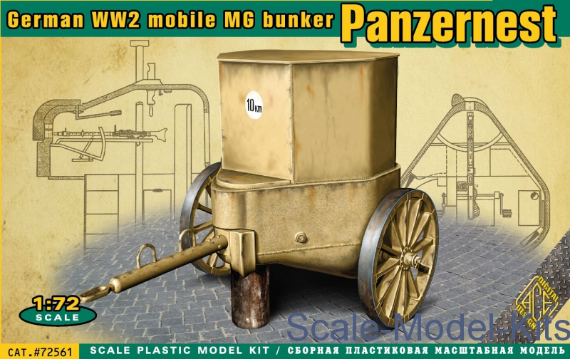 WWII German mobile MG bunker Panzernest-Ace plastic scale