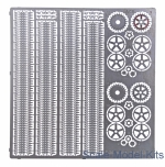 Photo-etched parts: T-26 tracks (replacement set for UM kits), Ace, Scale 1:72