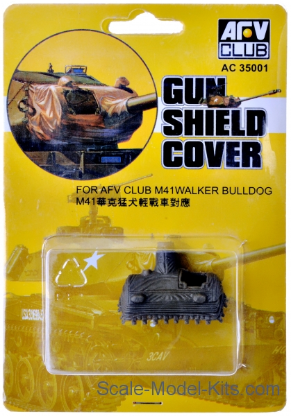 "Gun shield cover for tank M41A3 ""Walker Bulldog"""