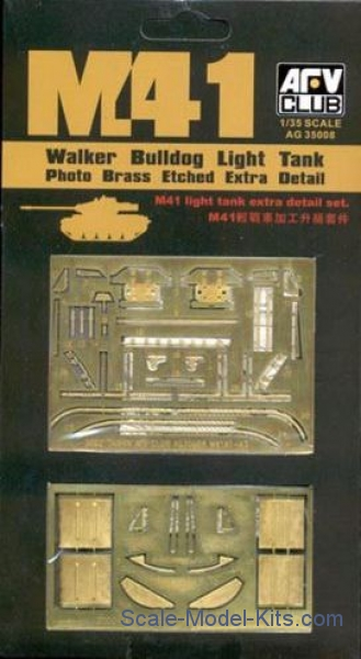 "Photoetched set for M41A1/A2/A3 ""Walker Bulldog"", light tank"