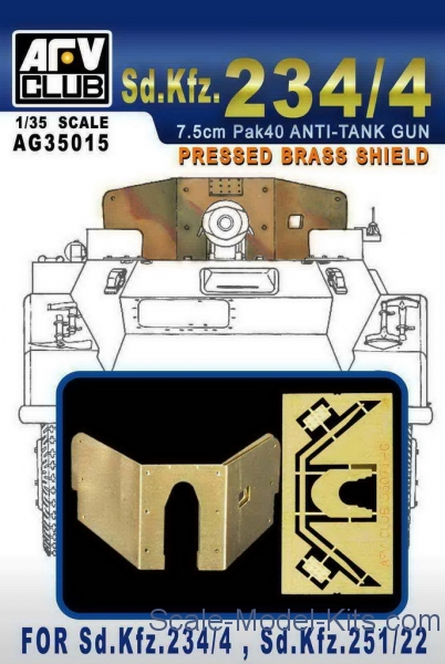 Photoetched set for Sd.Kfz.234/4, Sd.Kfz.251/22
