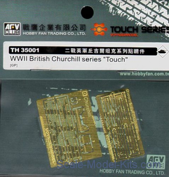 "Photoetched set for WW II British Churchill series ""Touch"""