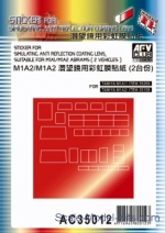 Decals / Mask: Sticker for simulating anti reflection coating lens suitable for M1A1/M1A2 Abrams, AFV-Club, Scale 1:35
