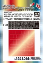 AF-AC35015 Sticker for simulating anti reflection coating lens suitable for Leapard 2, Hobby Boss kit