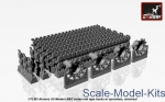 AR-AC7334b Tracks (solid teeth) for M1 Abrams series mid type w/ drive wheels