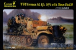 CMM7208 WWII German Sd. Kfz.10/4 with 20mm Flak 30