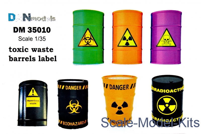 "Decal: ""Toxic waste barrels label"""