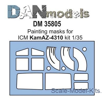 Painting masks for model Kamaz-4310, ICM kit