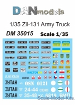 DAN35015 Decal for army truck ZiL-131