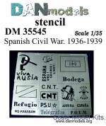 DAN35545 Photo etched: Stencil - Spanich civil war 1936-39