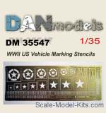 DAN35547 US Vehicle Marking Stencils (WWII)