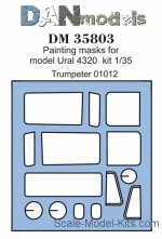 DAN35803 Painting masks for Ural-4320, Trumpeter kit