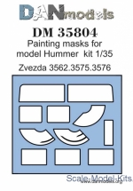 DAN35804 Painting masks for Hummer, Zvezda kit
