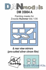 DAN35804A Painting masks & reeal view mirrors for Hummer, Zvezda kit