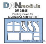 DAN35805 Painting masks for model Kamaz-4310, ICM kit