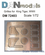 DAN72403 Grilles 1/72 for King Tiger, WWII