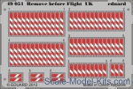 EDU-49051 Photoetched set 1/48 Remove before flight UK