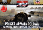 FTF045 Polish Field Canone 75mm wz. 1897 Schneider on DS Wheels, 2pcs (Snap fit)