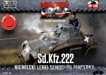 FTF047 Sd.Kfz.222 German Light Armored Car (Snap fit)