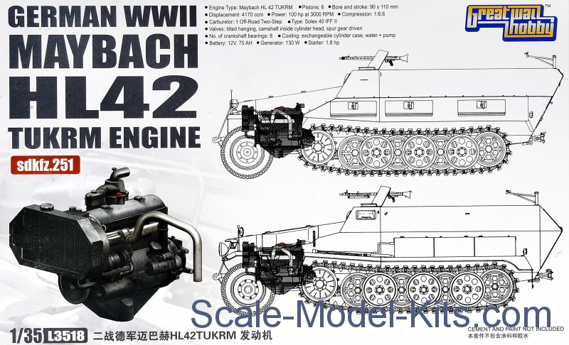 German WII Maybach HL 42 TUKRM Engine for Sd.Kfz.251