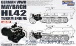 GWH-L3518 German WII Maybach HL 42 TUKRM Engine for Sd.Kfz.251