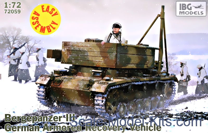 Bergepanzer III German armored recovery vehicle, easy assembly