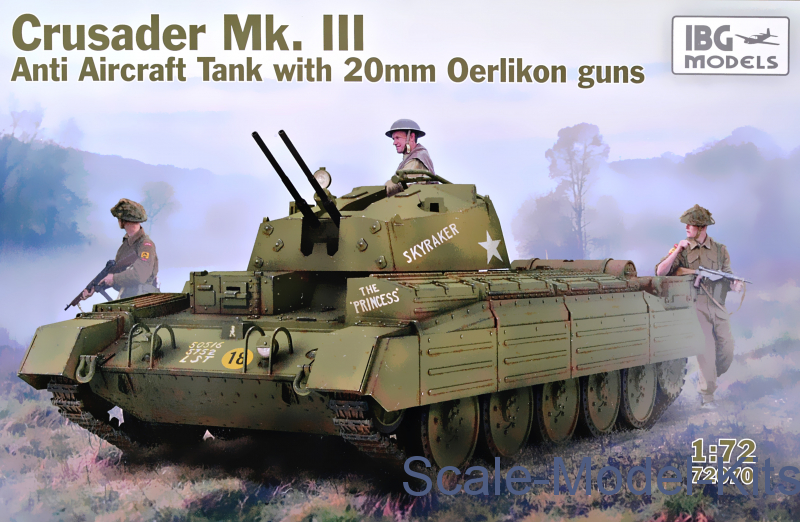 Crusader Mk  III Anti Aircraft Tank with 20mm Oerlikon guns