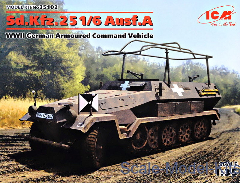 Sd.Kfz.251/6 Ausf.A, WWII German Armoured Command Vehicle