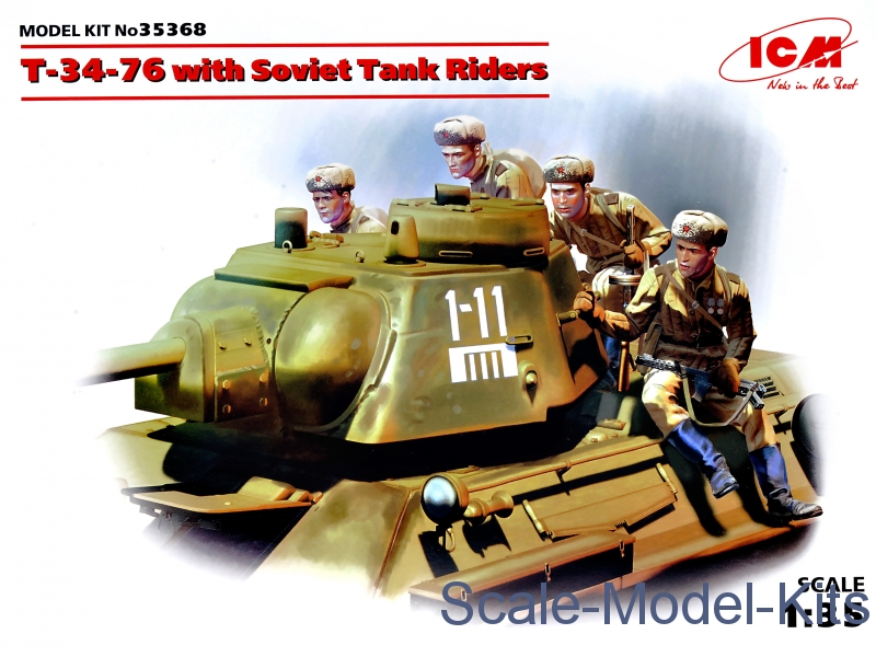 T-34-76 with Soviet tank riders