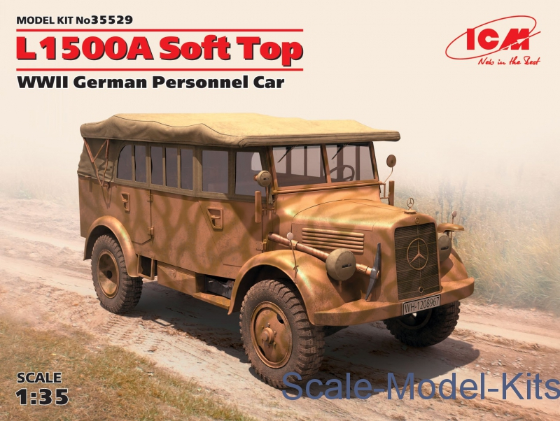 L1500A Soft Top, WWII German Personnel Car-ICM plastic scale