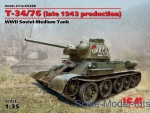 ICM35366 Т-34/76 (late 1943 prod.) WWII Soviet medium tank