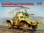 ICM35376 WWII German armored vehicle Panzerspahwagen P 204 (f) Railway