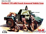 ICM35381 Panhard 178 with French armoured vehicle crew
