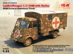 ICM35417 Lastkraftwagen 3.5 t AHN with shelter, WWII German ambulance