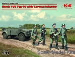 ICM35504 Horch 108 Typ 40 with german Infantry
