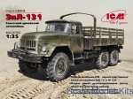 Army Car / Truck: ZiL-131, Soviet Army Truck, ICM, Scale 1:35