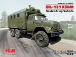 Army Car / Truck: ZiL-131 KShM Soviet Army command vehicle, ICM, Scale 1:35