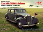 ICM35537 Typ 320 (W142) Saloon, WWII German Staff Car