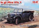 ICM35581 German Light Personnel Car le.gl.Einheits-Car Kfz.1, (WWII)