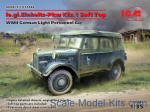 ICM35582 le.gl.Einheitz-Pkw Kfz.1 Soft Top, WWII German Light Personnel Car