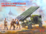 ICM35592 BM-13-16 on W.O.T. 8 chassis with Soviet Crew