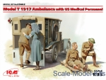 ICM35662 Model T 1917 Ambulance with US medical personnel