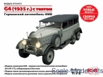 ICM72472 WWII German staff car G4,1935 production (snap fit)