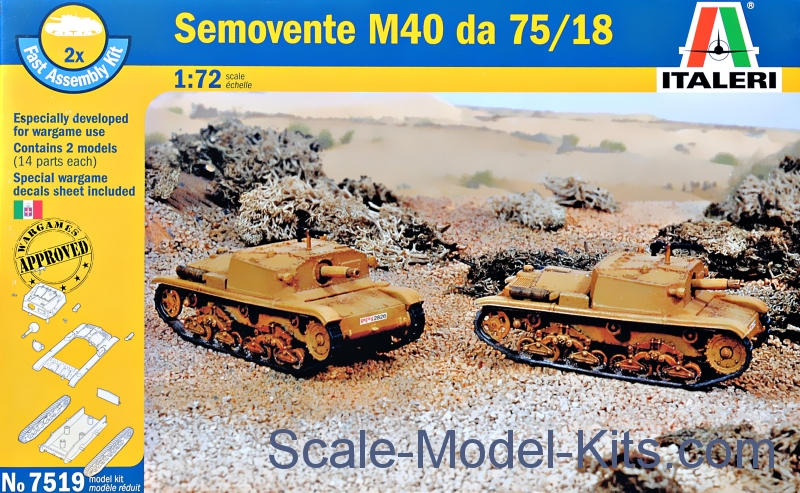 Semovente M40 da 75/18 (Fast assembly kit), 2 pcs