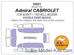 KVM35021 Mask 1/35 for Opel Admiral cabriolet, double sided, (ICM/Revell) kits