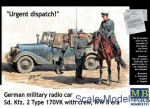 MB35151 German military radio car Sd. Kfz. 2 Type 170VK with figures