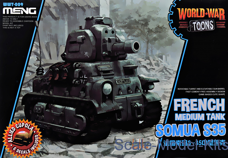 French medium tank Somua S-35 (World War Toons series)