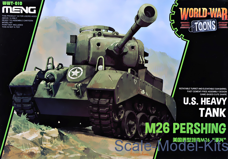 American heavy tank M26 Pershing (World War Toons series)
